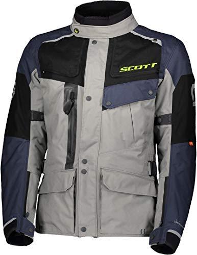 Scott Voyager Dryo Motorrad Jacke grau/blau 2020: Größe: XXL (54/56)