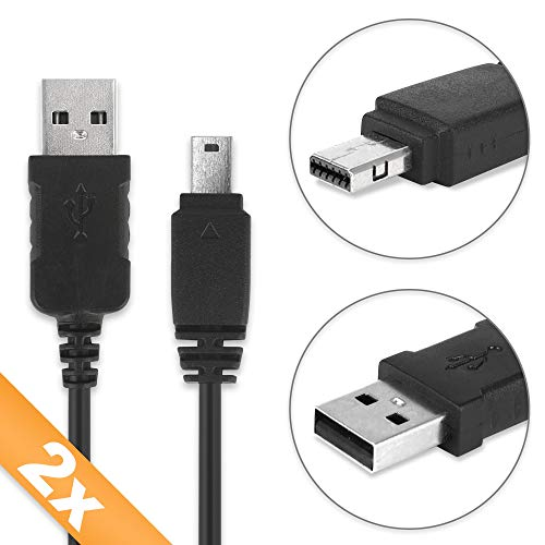 subtel® USB Kabel kompatibel mit Casio Exilim EX-FC100 EX-Z2 EX-Z550 EX-Z1050 -Z100 EX-Z75 EX-Z80 -Z85 EX-Z90 EX-ZR10 -ZR100 EX-S12 -S10 EX-H20g EX-F1 EX-FH100 -FH20 EX-H30 EMC-6 Datenkabel Ladekabel