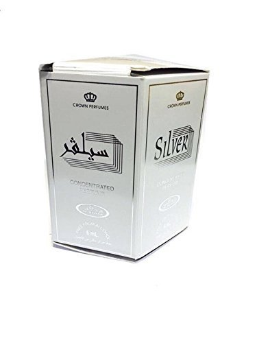 Business Square Pack 6 Musc Perfume Al Rehab Silver