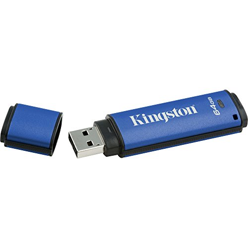 Kingston DTVP30/64GB DataTraveler Vault Privacy 3.0 - 64 GB - Password Protection, Encryption Support, Water Proof