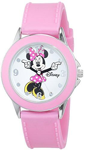 Disney Reloj Análogo clásico para niñas de Cuarzo con Correa en Caucho MN1442