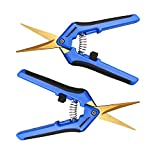VIVOSUN 2-Pack Gardening Hand Pruner Pruning Shear with Titanium Coated Curved Precision Blades