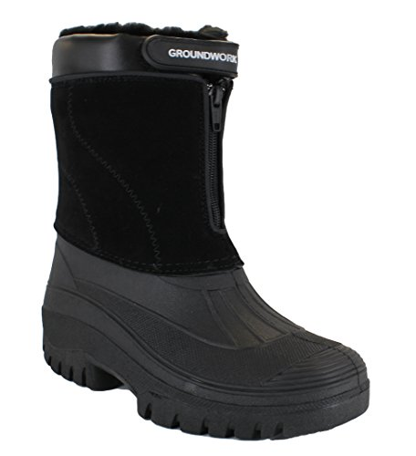 GroundWork LS88 Mens Mucker Stable Yard Waterproof Winter Snow Zip Boots Wellies UK 7 Bl