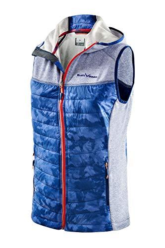 Black Crevice Veste sans Manches à Capuche pour Femme Bleu Taille 42