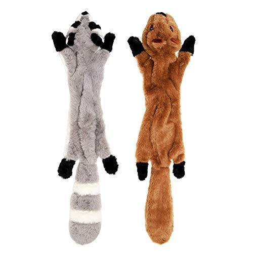 YZNlife Kauen Spielzeug ohne Füllung, Quietschende Spielzeug Hund Spielzeug Stoffspielzeug, 2Pcs Hundespielzeug Welpenspielzeug Plüschtier Spielzeuge interaktiv Spielzeug, Sicher&Ungiftig für Haustier