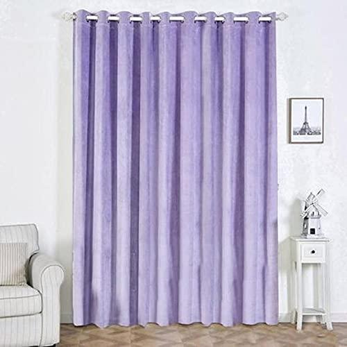 Balsa Circle 2 pcs 52inch x 108inch Lavender Soft Velvet Blackout Window Curtains Drapes Panels