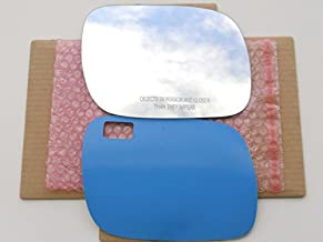 New Replacement Mirror Glass with FULL SIZE ADHESIVE for 2004-2006 VOLKSWAGEN TOUAREG Passenger Side View Right RH
