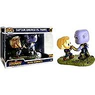 Funko Pop! Marvel Avengers Infinity War Captain America vs. Thanos Movie Moments Exclusive Figure...