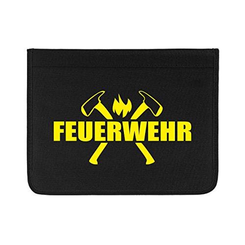 Roter Hahn 112 Hochwertige Feuerwehr Schreibmappe Organizer Konferenzmappe Rettungsdienst