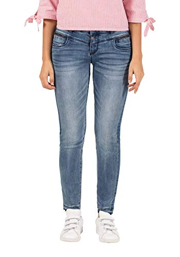 Timezone Damen SadeTZ Slim Jeans, Blau (Shades of Blue wash 3903), W29/L32