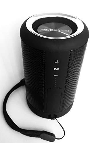 Altavoz Bluetooth portátil IP65 Resistente al Agua Powerbank Bluetooth Wireless Altavoz Mini Stero Bass Altavoz Negro