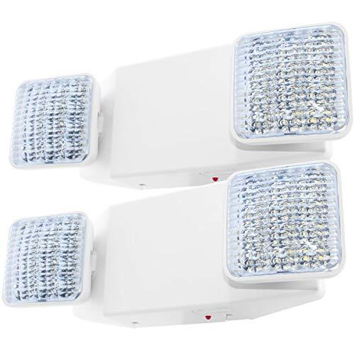LFI Lights - 2 Pack - UL Certified - Hardwired LED Emergency Light Standard - EL2Wx2