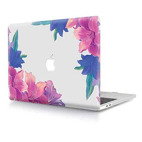 Hard Case for Macbook Air 11 inch Model A1370 A1465,AJYX Plastic Pattern Hard Shell Case Protective Cover for Laptop Mac Air 11.6' - Purple Flower