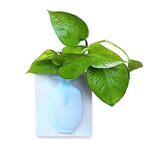 TODAYTOP - Jarrón de Silicona Magic Sticky, jarrón elástico pegajoso en la Pared de Cristal, pequeño jarrón Decorativo para Cuarto de baño, tocador, frigorífico, mármol