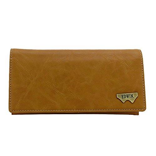 [エドウィン] 財布 グレイン合皮 Wメタル 紙幣収納 小銭収納 カードポケット 12289937 28.キャメル