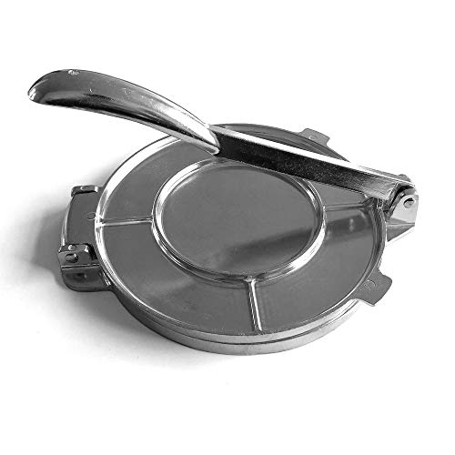 Weskjer Prensa para Tortillas de Hierro Fundido de 8 Pulgadas, máquina para prensar Tortillas, máquina para Hacer Tortillas, Prensa para Masa, Prensa para Pan, máquina...