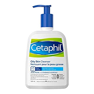 Cetaphil Oily Skin Cleanser 500ml - Foaming Facial Wash - For Oily, Combination, Acne-Prone and Sensitive Skin - Dermatologist Recommended (B007RWWWR8) | Amazon price tracker / tracking, Amazon price history charts, Amazon price watches, Amazon price drop alerts