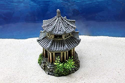Amtra Japan Tempel Dekoration Aquarium Deko Steine Felsen Garnelen Fische Dekofigur Dekosteine