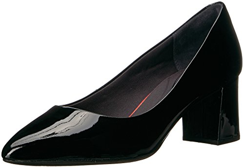 Rockport Womens Total Motion Salima Dress Pump, Black Patent, 8 M US