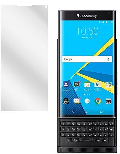 dipos Blackberry Priv Schutzfolie (2 Stück) - kristallklare Premium Folie Crystalclear