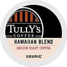 Tully's Coffee, Hawaiian Blend, Single-Serve Keurig K-Cup Pods, Medium Roast Coffee, 96 Count (4 Boxes of 24 Pods)