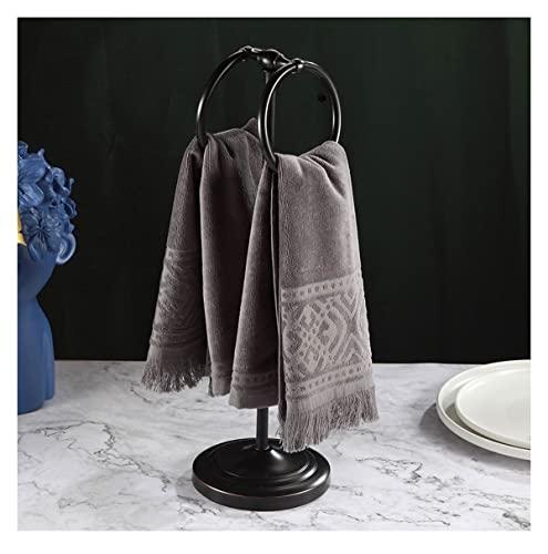 QINJIE Toallero de pie con barra vertical para toallero independiente sobre el fregadero, estante para toallas, varillas verticales para almacenamiento de toallas de mano para baño y cocina (color: C)
