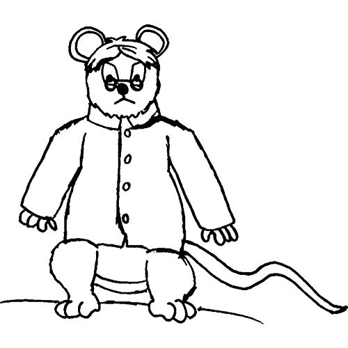 A8 'Böse Ratte' Stempel (Unmontiert) (RS00019119)