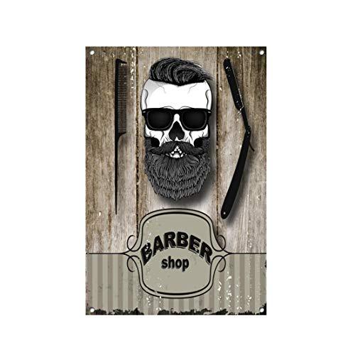 Mrt43Hutt Señal de Metal de barbero, barbería, Tienda, barbería, decoración de salón de Belleza, Letrero de peluquería para Pared 1042