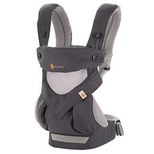 Ergobaby 360 Cool Air - Mochila portabebé, color gris carbón