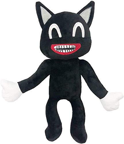 Black Cartoon Cat Plush, Soft and Embrace Anime Cat Plush Toys Kids Birthday Christmas New Year Decoration Plush 12.6 inches… (Black02)