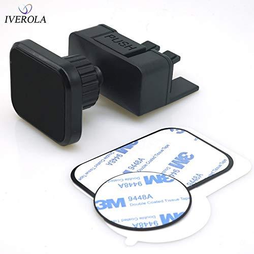 IENPAJNEPQN Universal-Auto-Telefon-Halter for CD-Schlitz Mobilmontage-Aufnahmevorrichtung for Magnetic Phone Holder auf Allen Smartphones (Color : Black Flat)