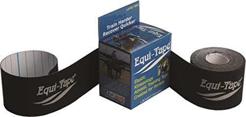 Equi-Tape Equine Kinesiology Tape Train Harder Recover Quicker The First Equine Kinesiology Tape for Comfort, Stability & Therapy, Black