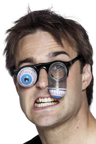 Smiffys Unisex Brille mit hängenden Augen, 00380