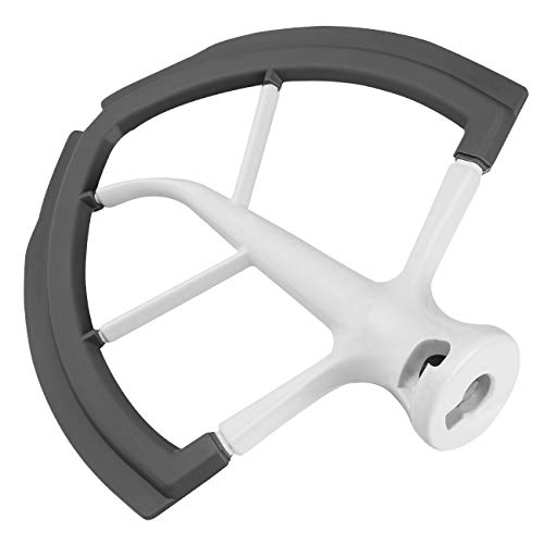 6 QT Flex Edge Beater Attachment for KitchenAid Bowl-Lift Stand Mixer, Flat Edge Beater for 6 Quart with Silicone Edges