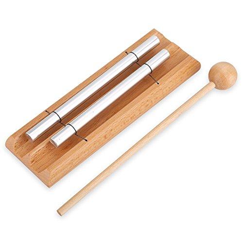 Instrumento de percussão, Instrumentos de percussão infantil Instrumento de percussão de dois tons com malho Brinquedo de educação musical para crianças crianças