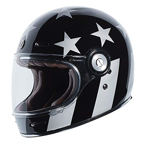 TORC T1 Unisex-Adult Retro Full-face-Helmet-Style Motorcycle (Captain Vegas Gloss Black, Medium)