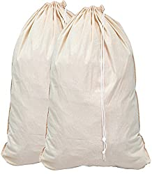 "small 2 – Oversized laundry bag made of natural cotton, beige (28 ""x 36 ″)"