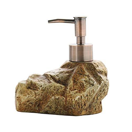 Zhenwo Badaccessoires Seifenspender Kreative Vintage Keramik Stein Seifenspender Shampoo Händedesinfektionsmittel Körperlotion Sub-Flasche Lotion,A