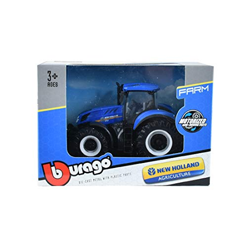 Burago-Tractor New Holland Modelo T 7.315 motorizado (18-