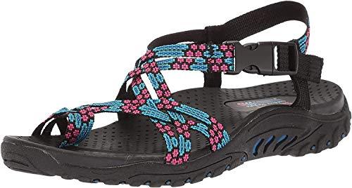 Skechers Women's Reggae Loopy Toe Ring Sandal,blue/pink,10 M US