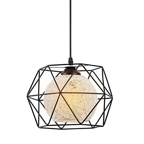 Lámpara Colgante Vintage de Metal, EYLM Lámpara de Techo Interior para Cocina, Sala, Comedor, Dormitorio (Diámetro 25cm)
