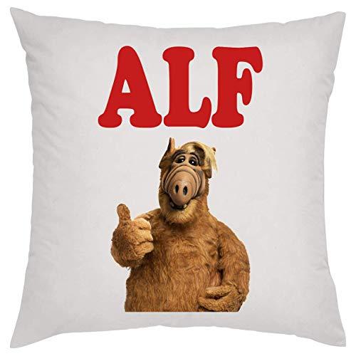 Alf Portrait Tv Show Design Standing Showing Finger Kissen Pillow