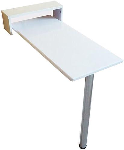 Tableau LHA Table de Mur Blanc Pliable Solide en Bois à Manger Table pour Ordinateur de Bureau Restaurant Dortoir Snack Bar 8 Tailles Disponibles (Taille   80  30  73cm)