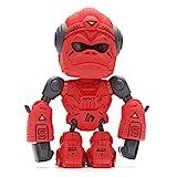 Gilumza Robot Gorilla Toys for Kids Christmas Stocking Stuffers, Mini King Kong Robots Gifts for Boys Girls Adults with LED Eye, Tiny Fun Vital Orangutan Electronic Toy (Red)