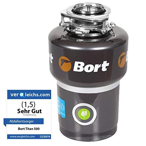 Bort Titan 5000 - Abfallentsorger mit Luftschalter, 560 W, 0.75 Pferdekraft, Lärmschutz, Automatische Abschaltung, Hohe Leistung, Überhitzungs-, Blockier und Überlastungsschutzsystem