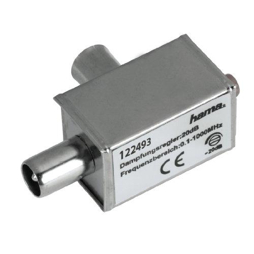 Hama Breitband-Kabel Dämpfungsregler (Frequenzbereich bis 1000MHz) schwarz