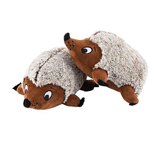 JOYELF Plüsch Quietschendes Hundespielzeug, 2er Pack Mittleres Igelspielzeug für kleine und mittlere Hunde