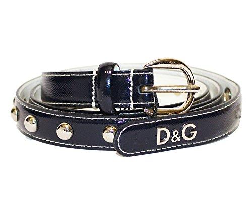 D&G Cintura donna Asta dritta Saffiano DC0686E14D col. Blu Notte tg. 100cm