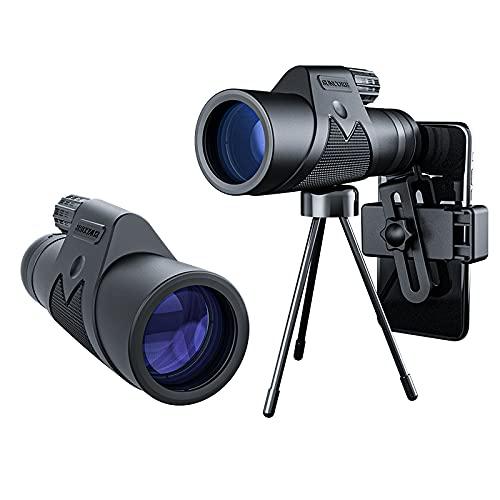 12 x 50 HD Monocular Telescope Mobile Phone Binoculars Lens Waterproof with Holder & Tripod for Climbing Bird Watching Hunting Concert Football Game Travel