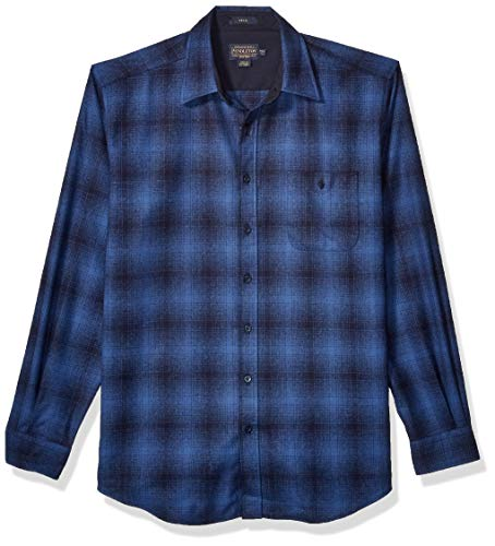 Pendleton Men's Size Long Sleeve Button Front Trail Shirt, Blue Ombre, XL-Tall